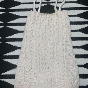 Urban Outfitter Winter Sweater Cream Dress
